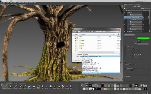 Mudbox is to gain full support for Disney&#039;s Ptex UV-less texture format in its 2012 release.