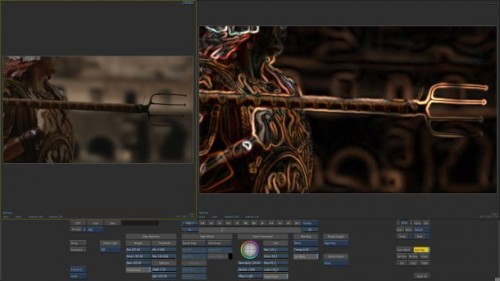 Edge Detect in action from Smoke 2012&#039;s new Flame FX toolset.