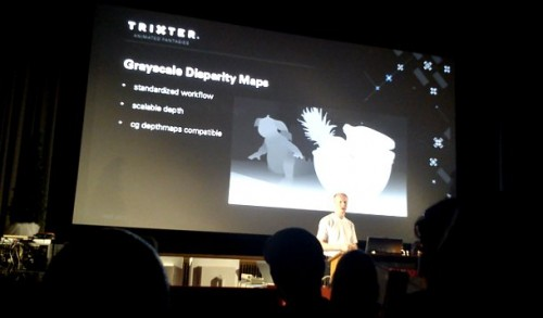 Dietrich Hasse of Trixter demonstrates disparity mapping: one of the techniques the studio has evolved for its stereo conversion work on movies like The Green Hornet.
