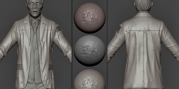 Download 11 free custom ZBrush wear and tear brushes | CG Channel