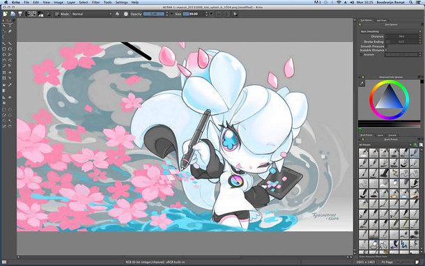 Krita 2 8 Brings Open Source Paint Tool To Windows Users
