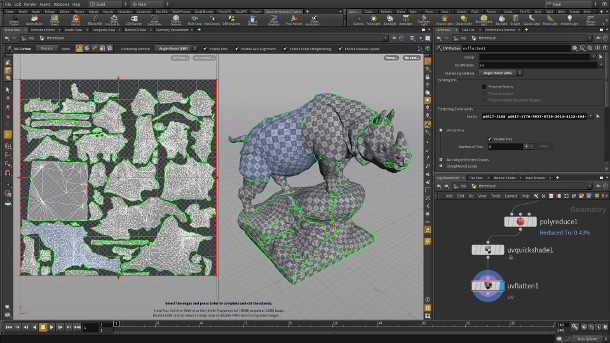 Houdini gets new UV Flatten and FBX export tools | CG Channel