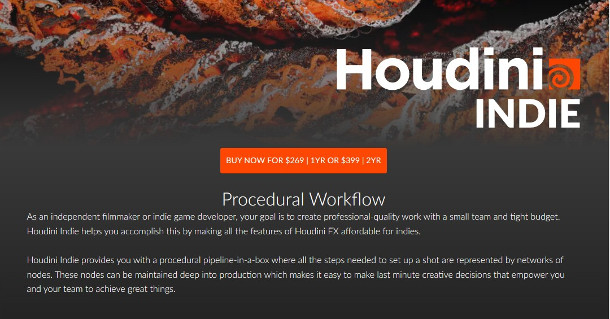 SideFX gives all Houdini Indie users a free extra licence