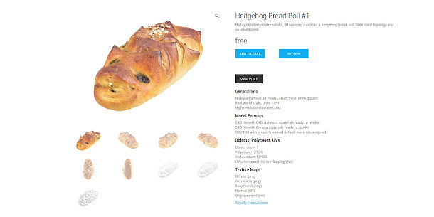Download free 3D scans of food from creative crops | CG Channel