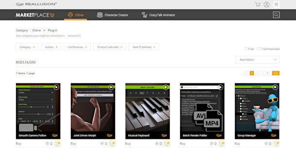 Get free plugins from iClone's new online marketplace | CG Channel