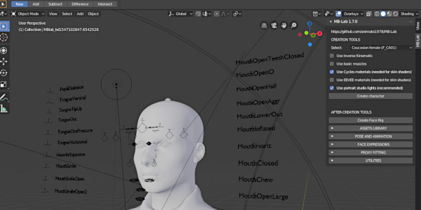 Create free, facially rigged CG characters with MB-Lab 1 7 5